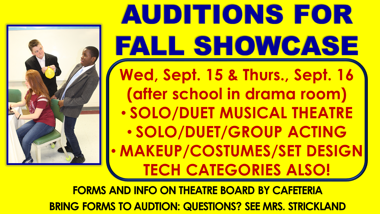 Fall showcase auditions