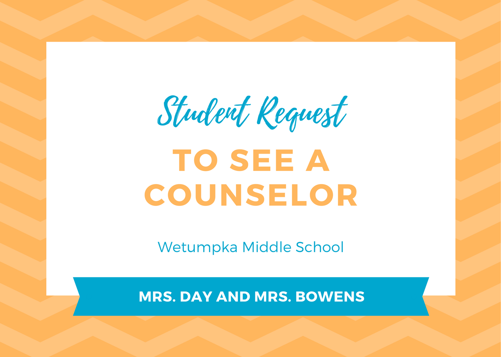 Request to See a Counselor