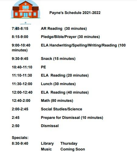 schedule 2021