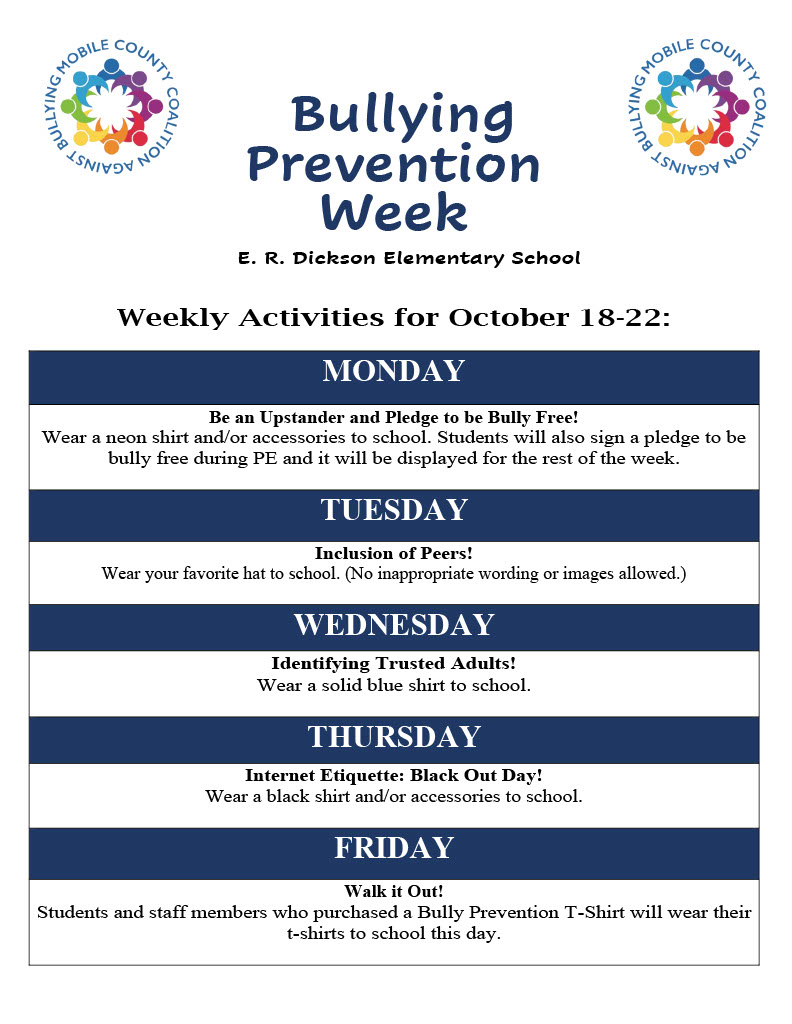 Bully Week Activities
