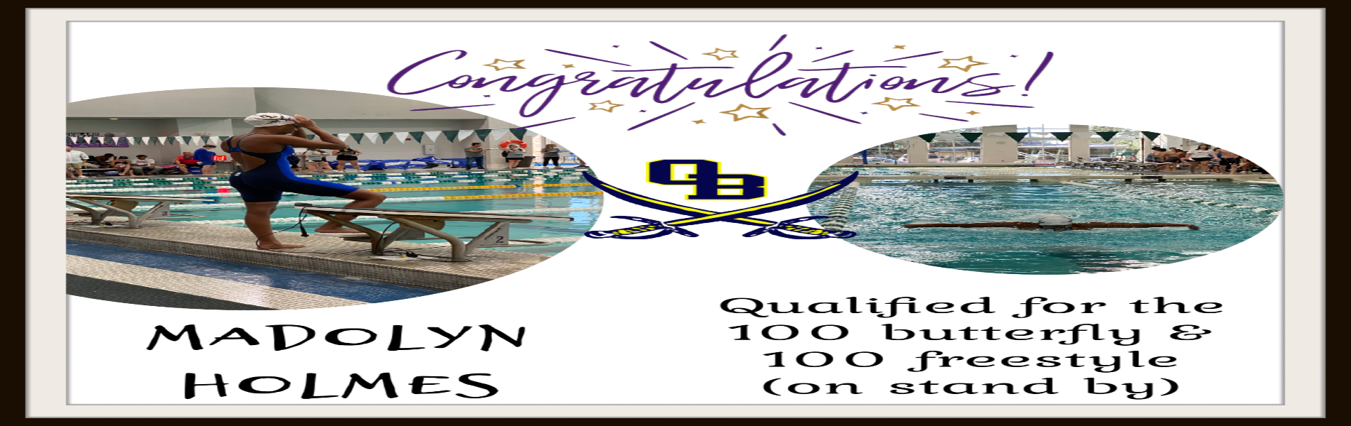 Madolyn Holmes qualifies for State Swimming