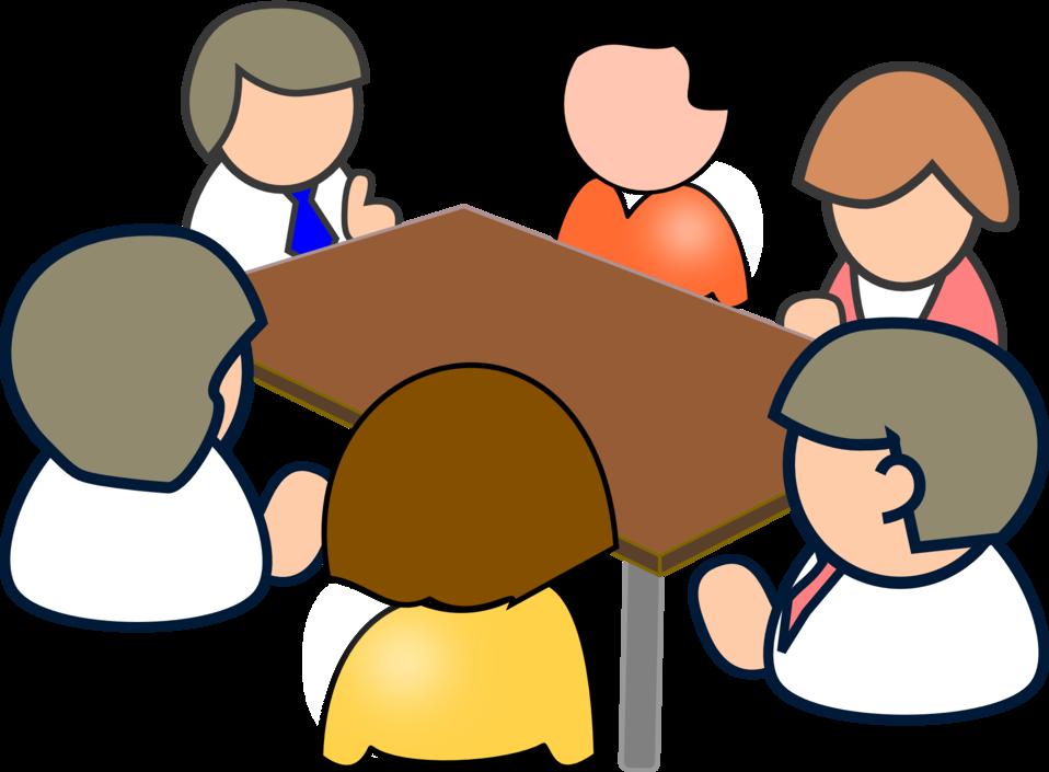 Meeting at table