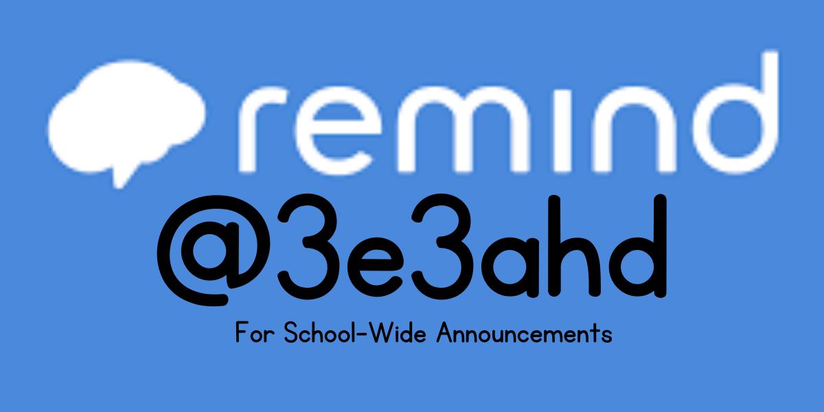 Remind Code @3e3ahd