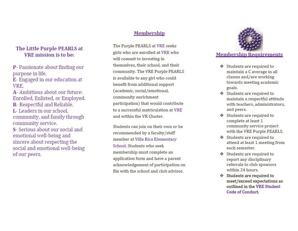 VRE Purple Pearls Brochure Page 2