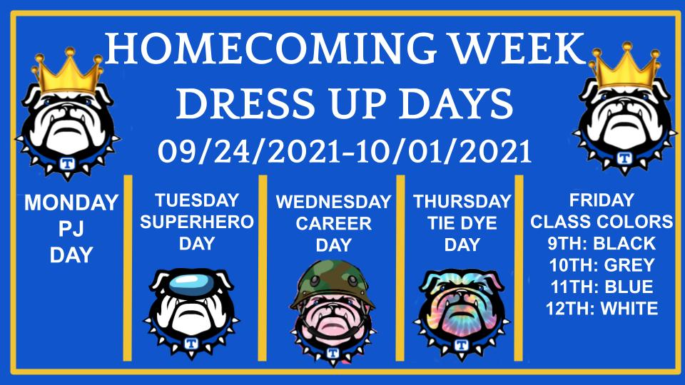 THS HOMECOMING DRESS UP DAYS