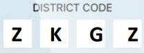 PCS District Code