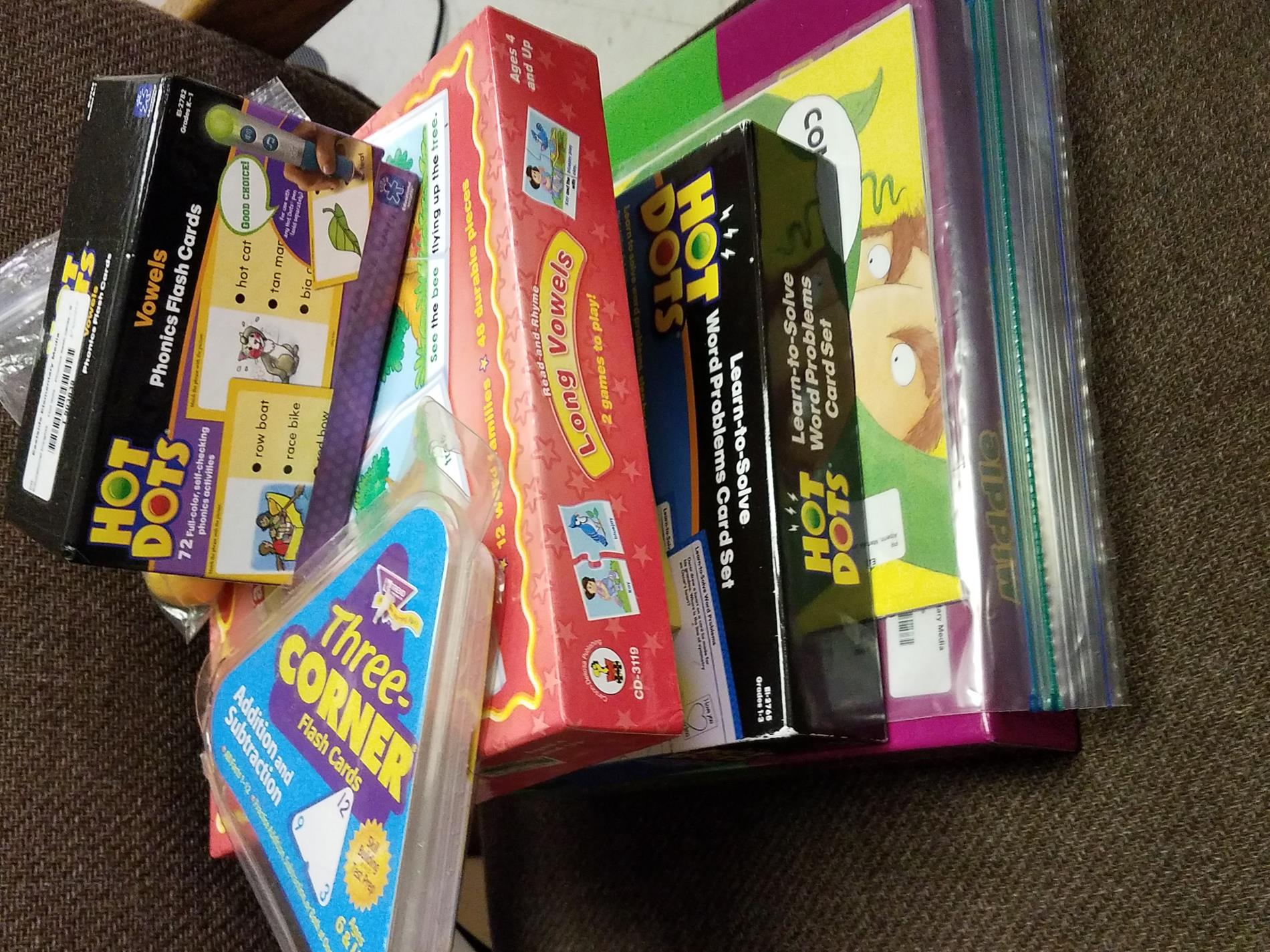 various games & learning activities