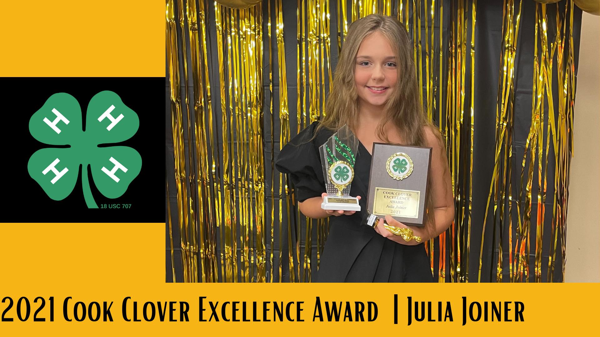 2021 Cook Clover Excellence Award