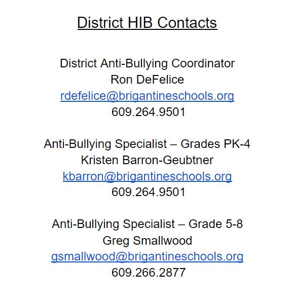 HIB Contacts