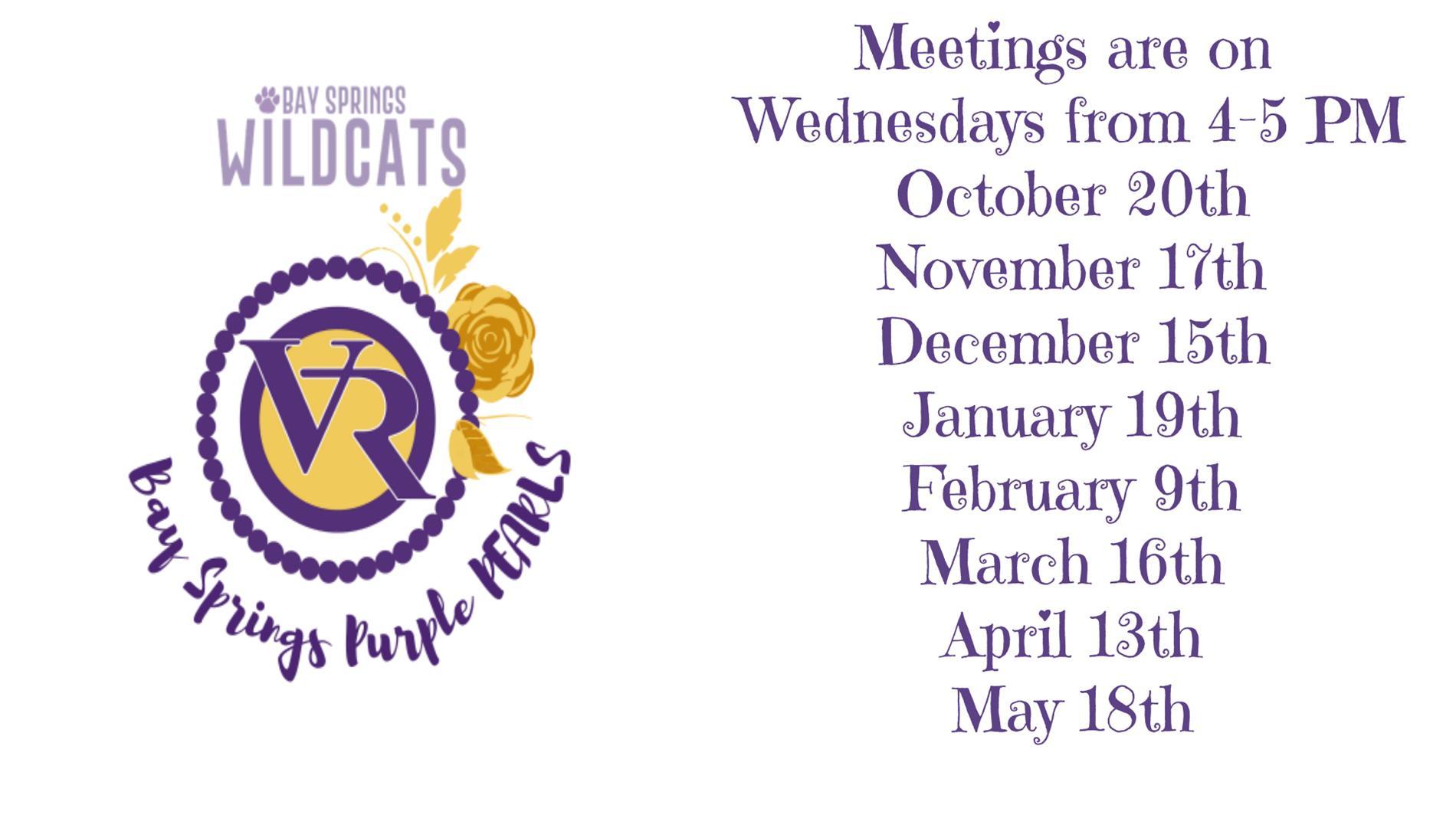 PEARL Meeting Dates