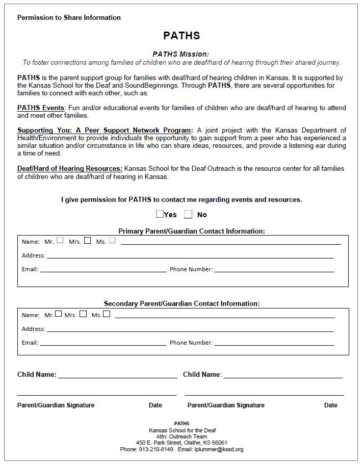 PATHS Permission Form