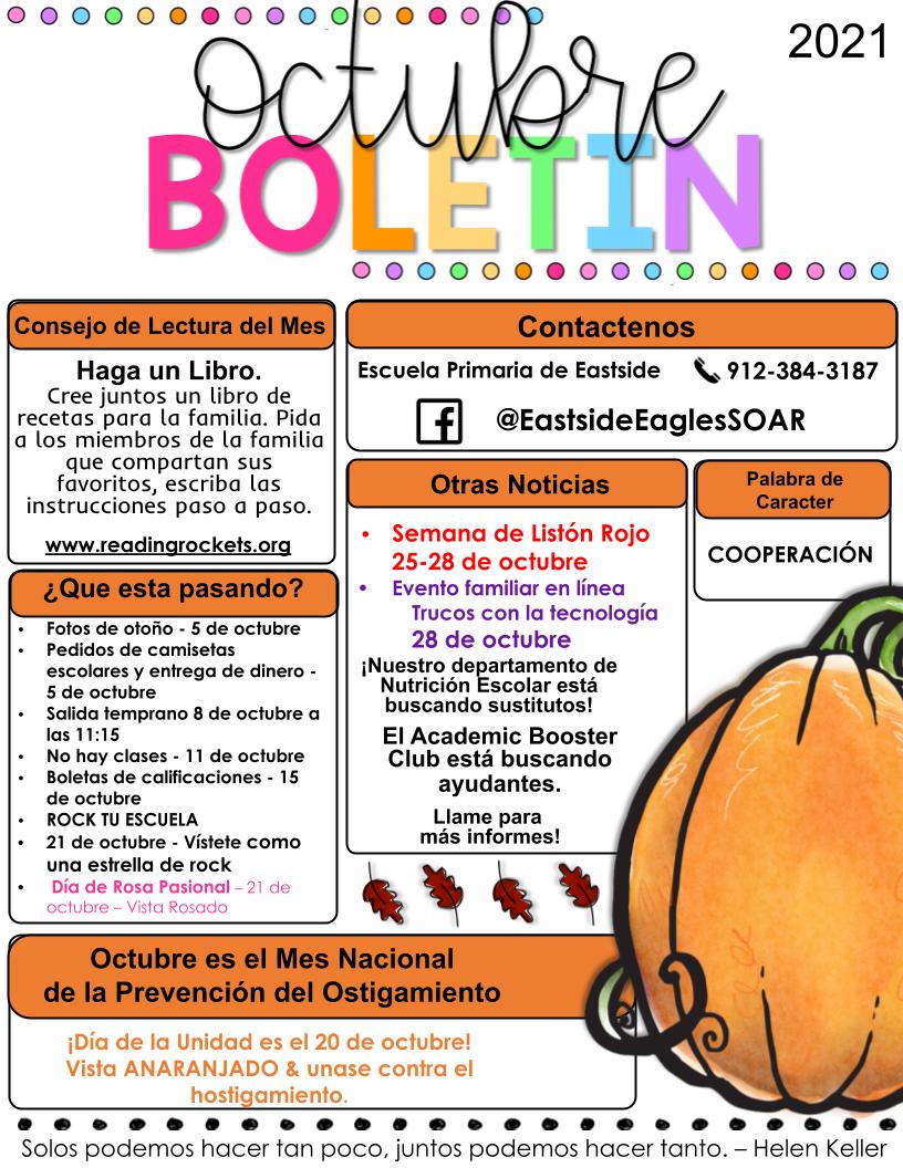 October Newsletter - Spanish