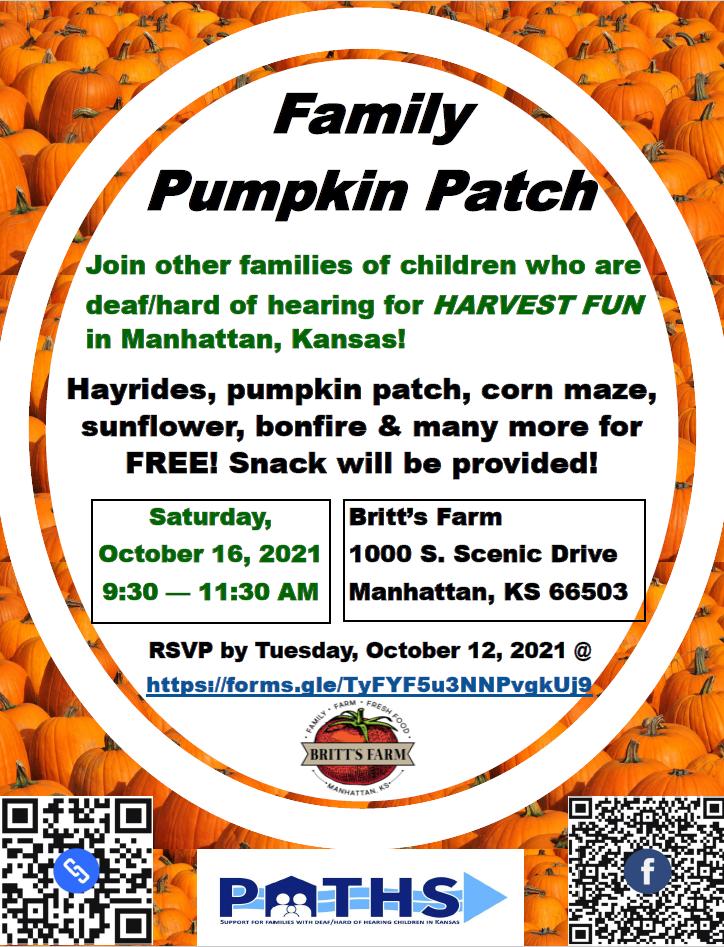 Britt's Family Pumpkin Patch Flyer in English