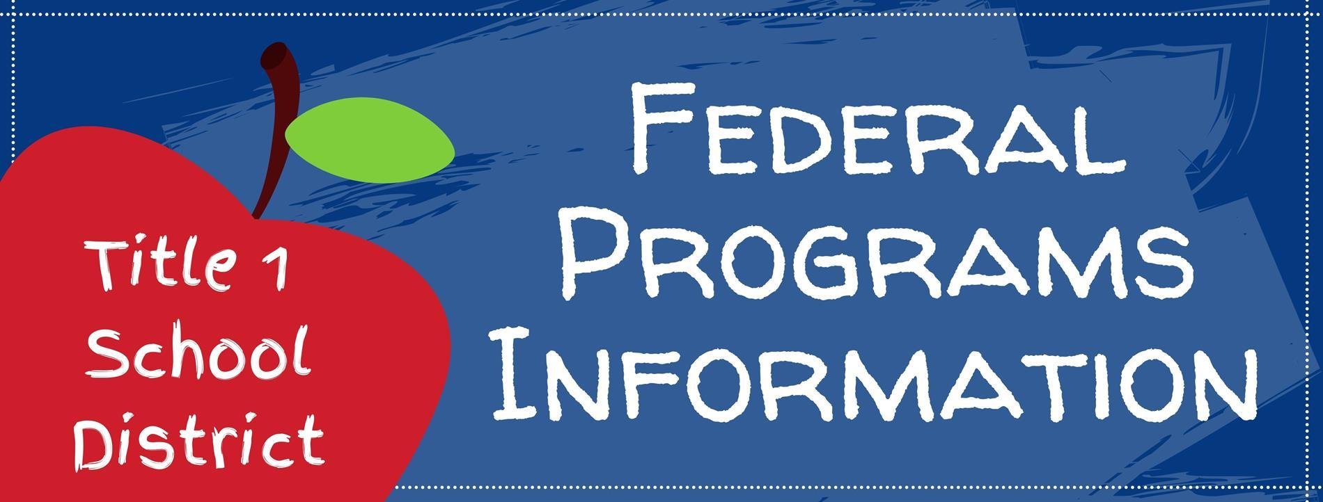 Federal Programs Banner