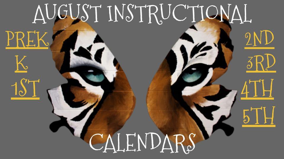 August Instructional Calendar