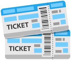 Clip art of a tickets