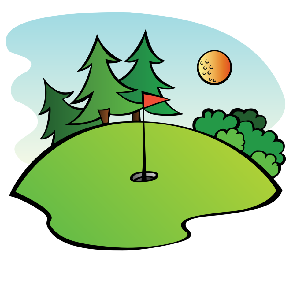 Golf Course with ball