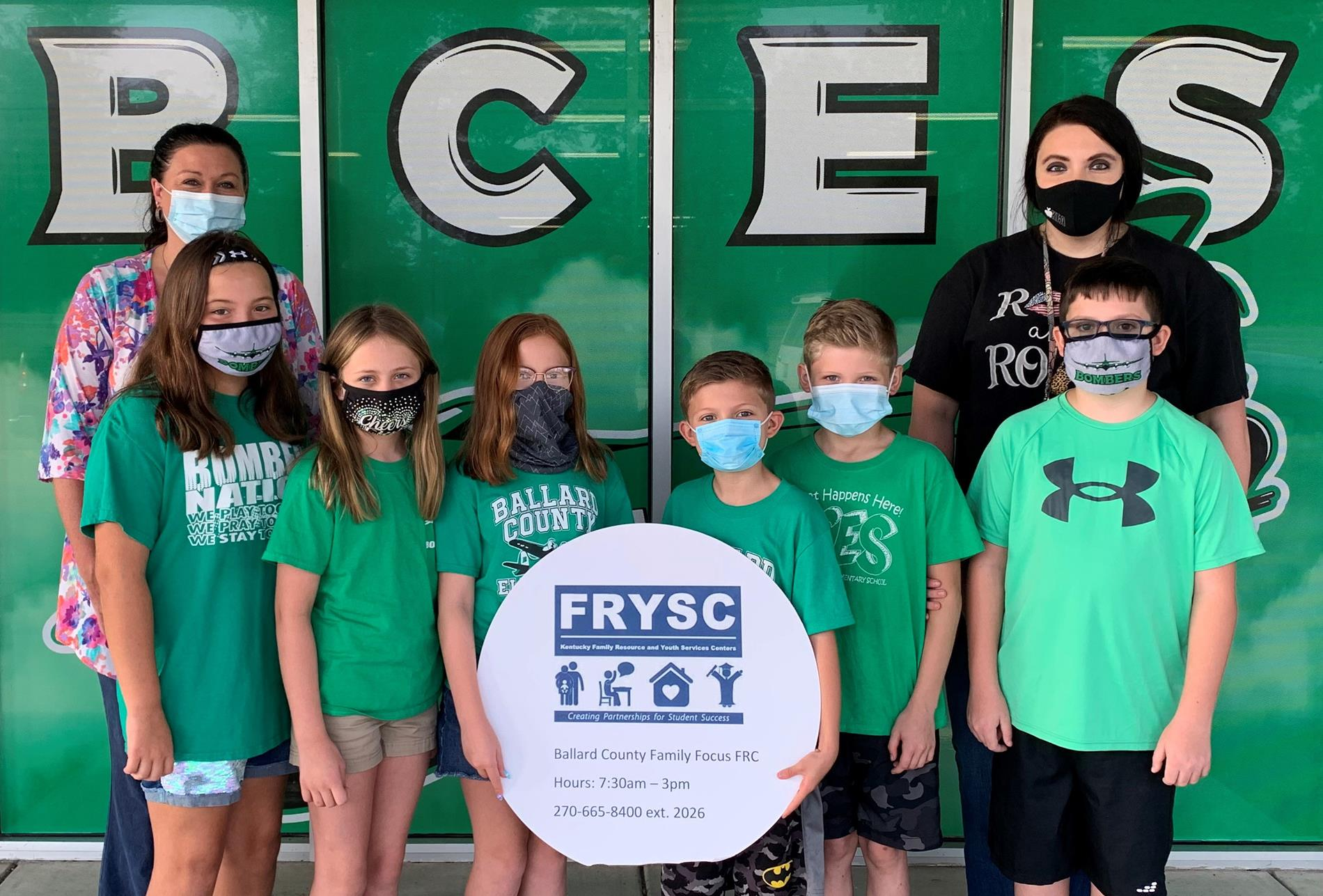 A group of BCES students recently won a national contest by Shelter Insurance, and their $5,000 prize was donated to Family Focus.