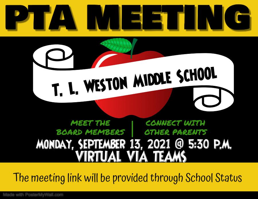 PTA Meeting 9.13