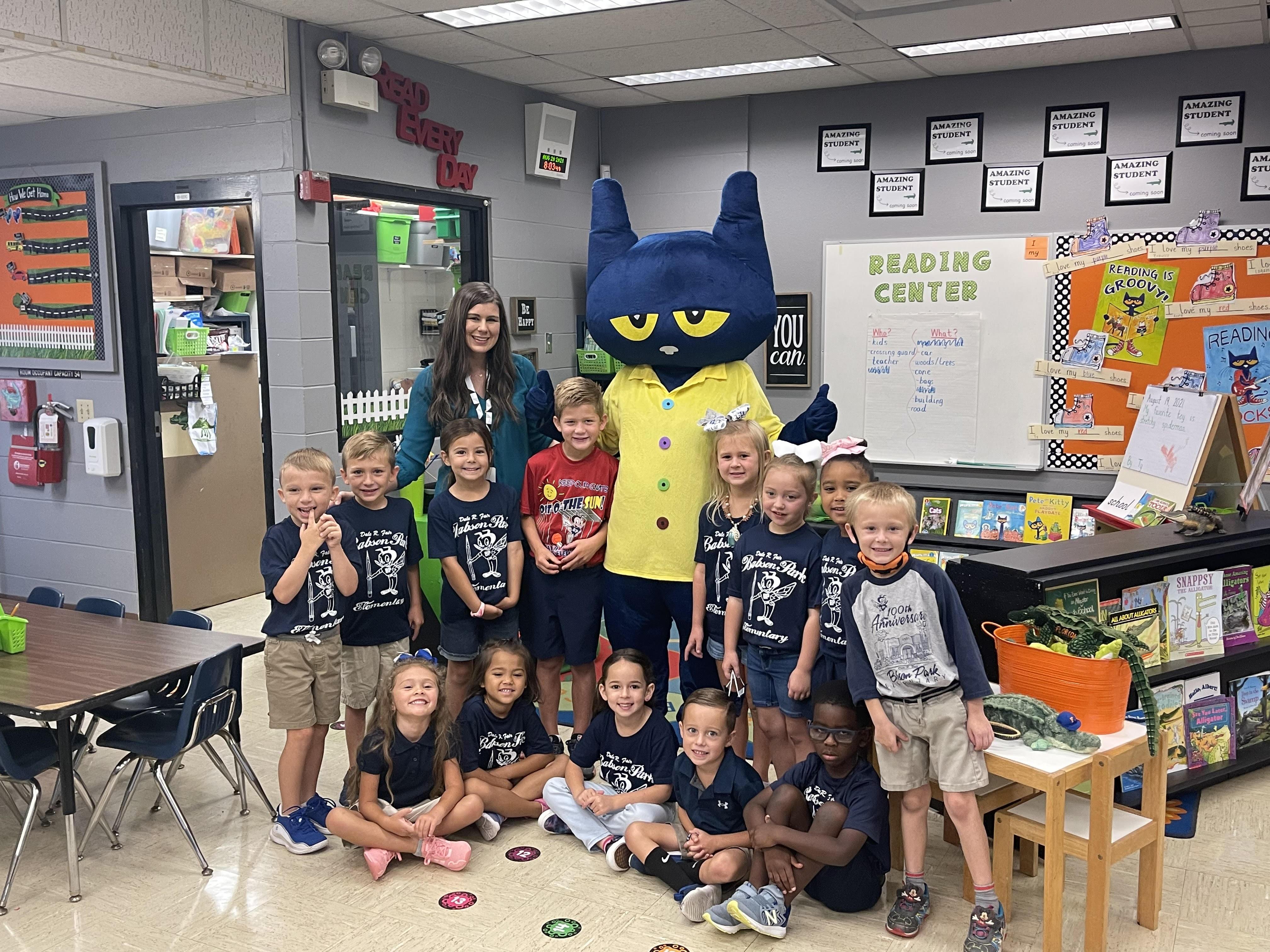 Pete the Cat with Mrs. Barker's Kindergarten Class
