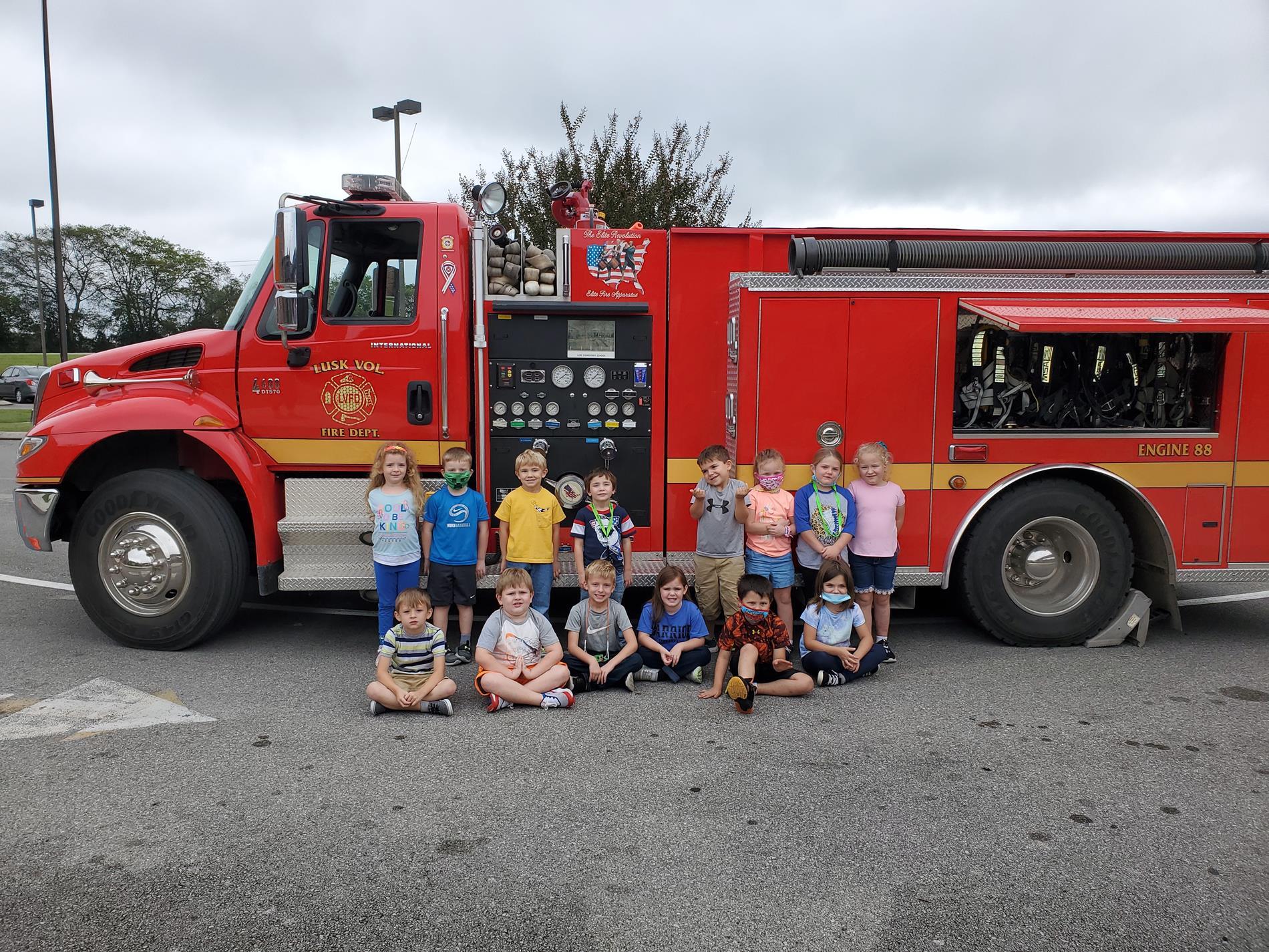 Kindergarten meets the Firefighters