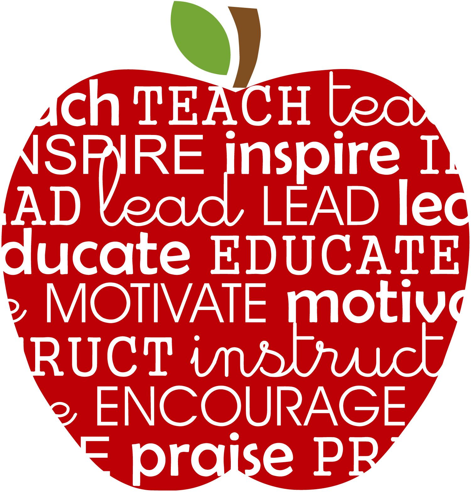 teaching vocabulary in the shape of an apple