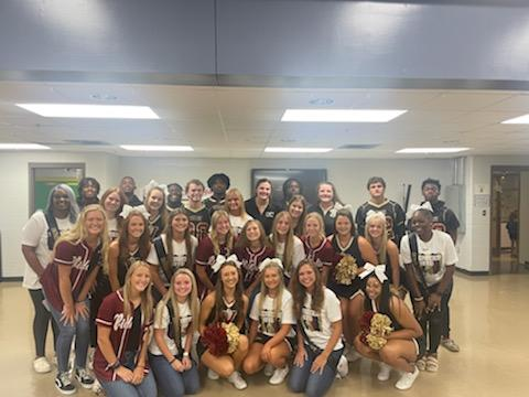 VHS Athletes and Homecoming Court at Dickerson