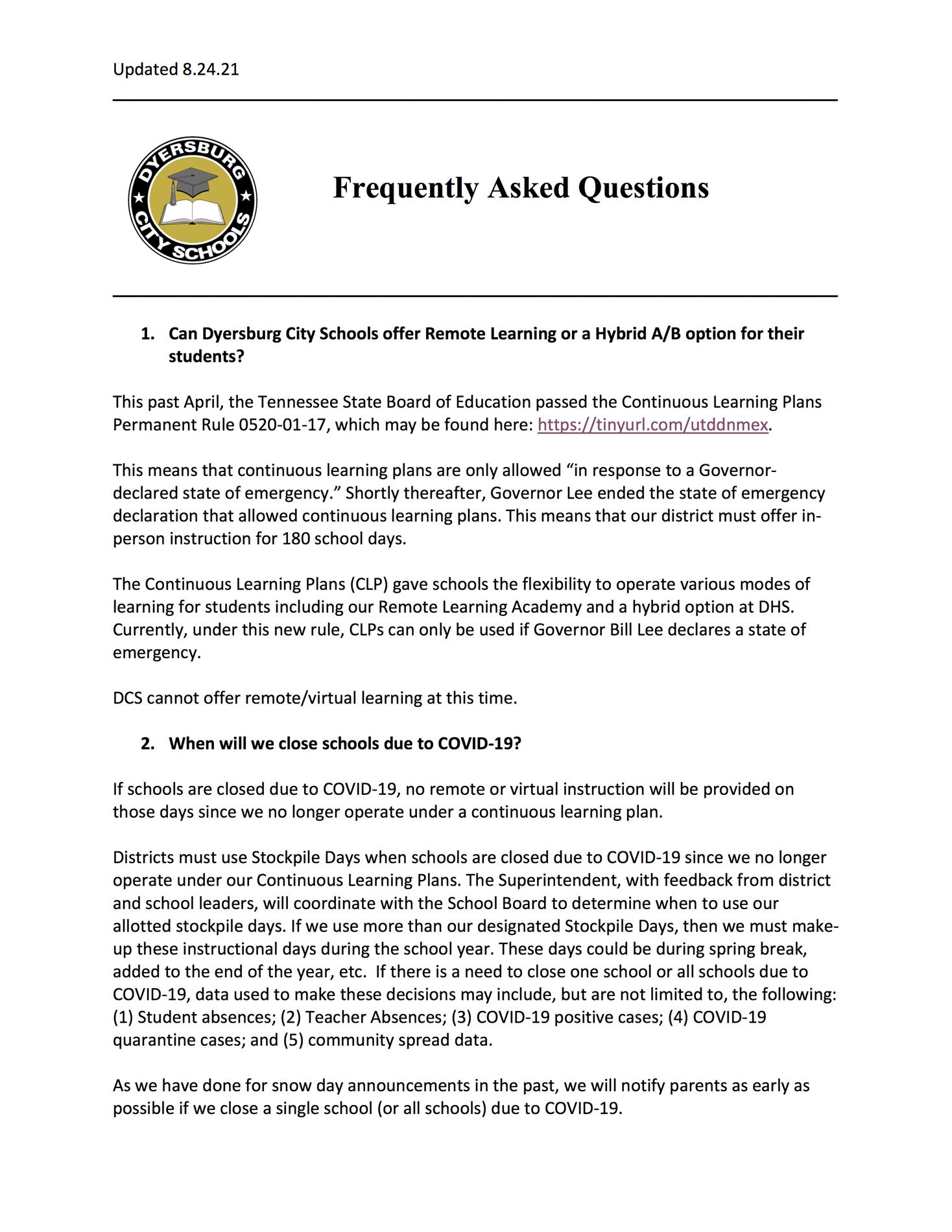 FAQ Page 1