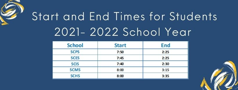 Schools Start and End Times