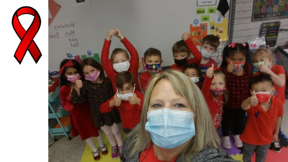 kids dressed for red ribbon week