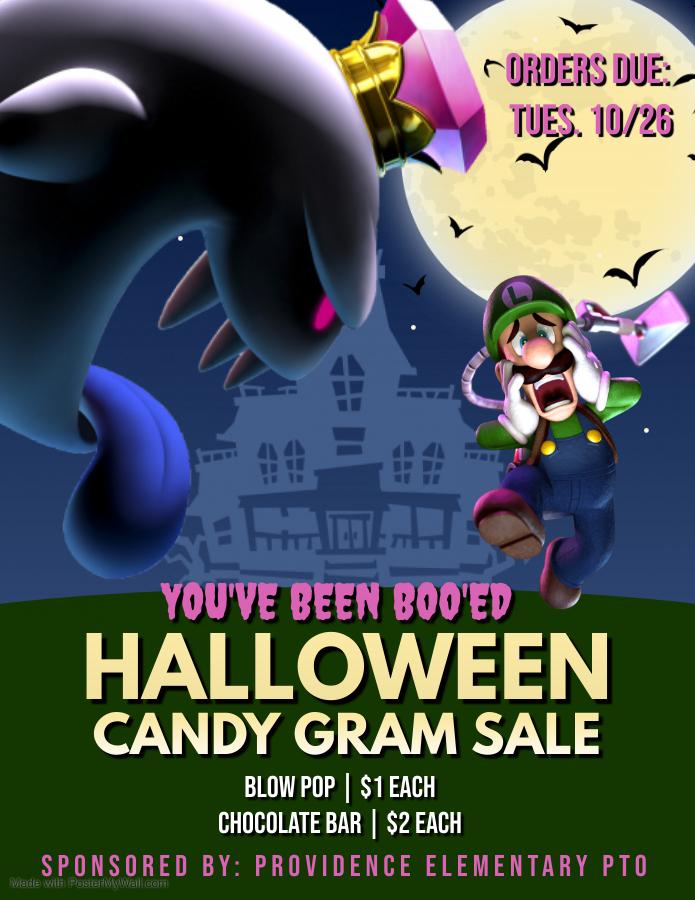 Halloween Candy Grams Flyer