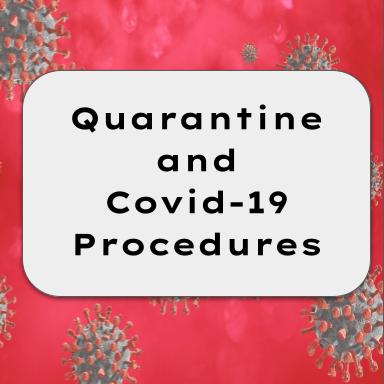 Quarantine and Covid-19 Procedures