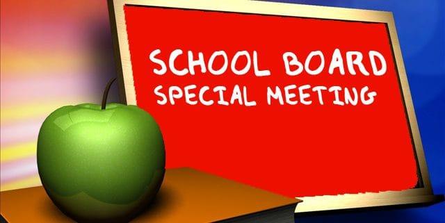 school board special meeting