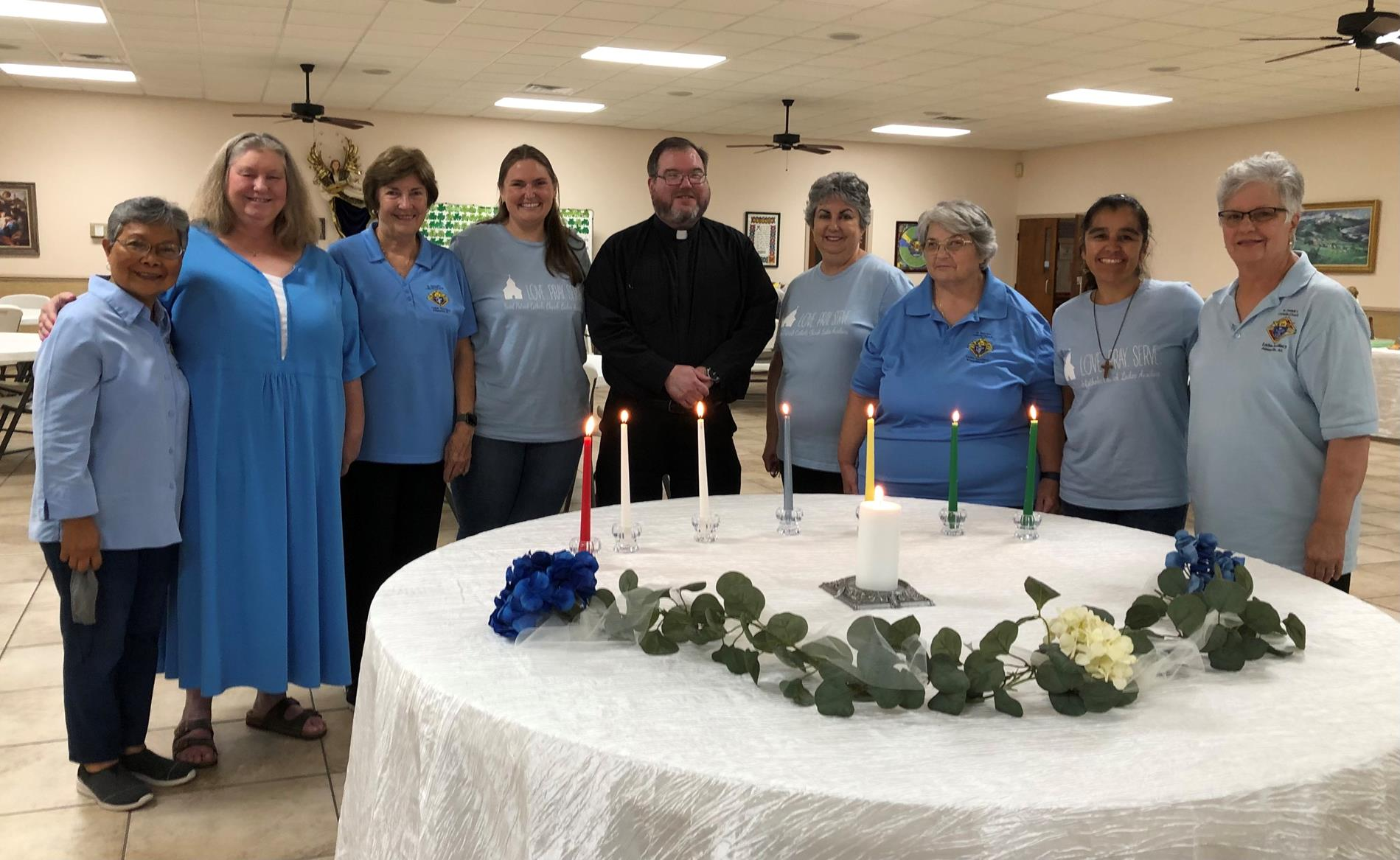 Officers with Fr. Weis