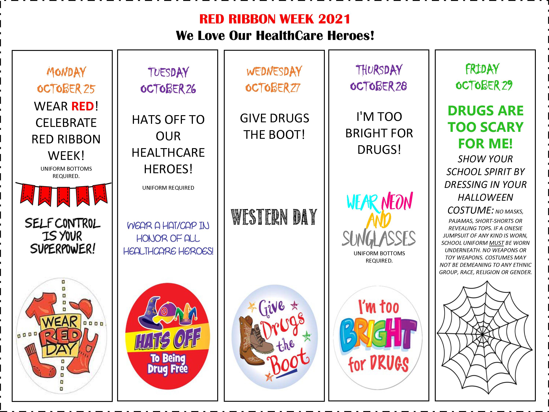 Red Ribbon Week 2021 Activities