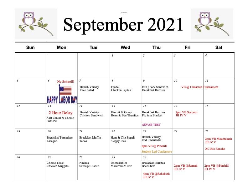 September /Menu