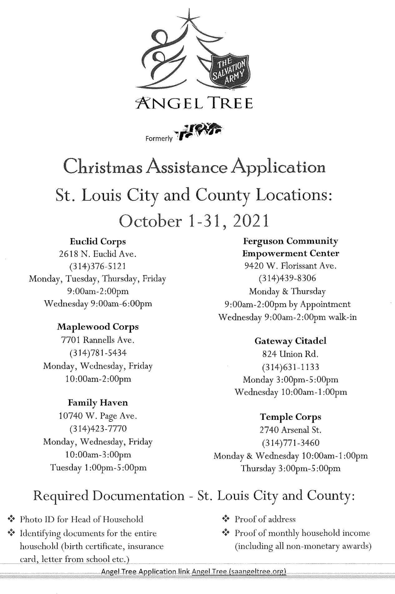 Christmas Assistance Application