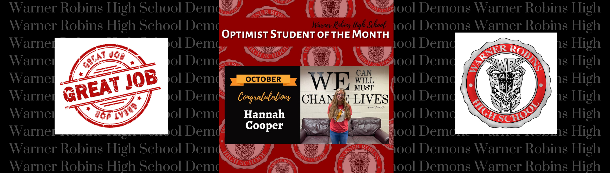 Optimist Student of the Month--October 2021