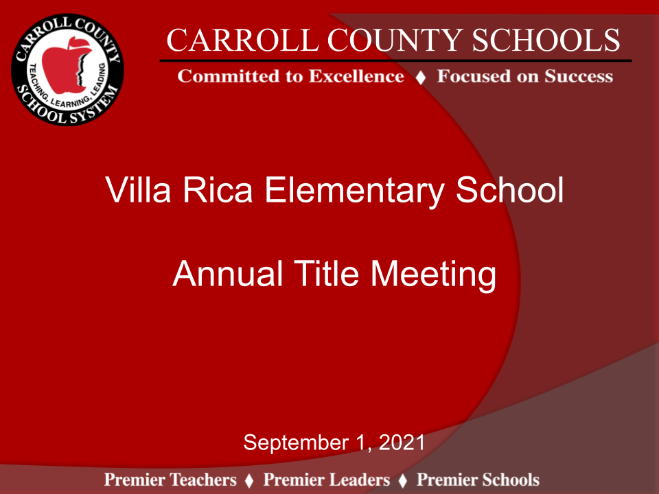 Annual Title I Presentation