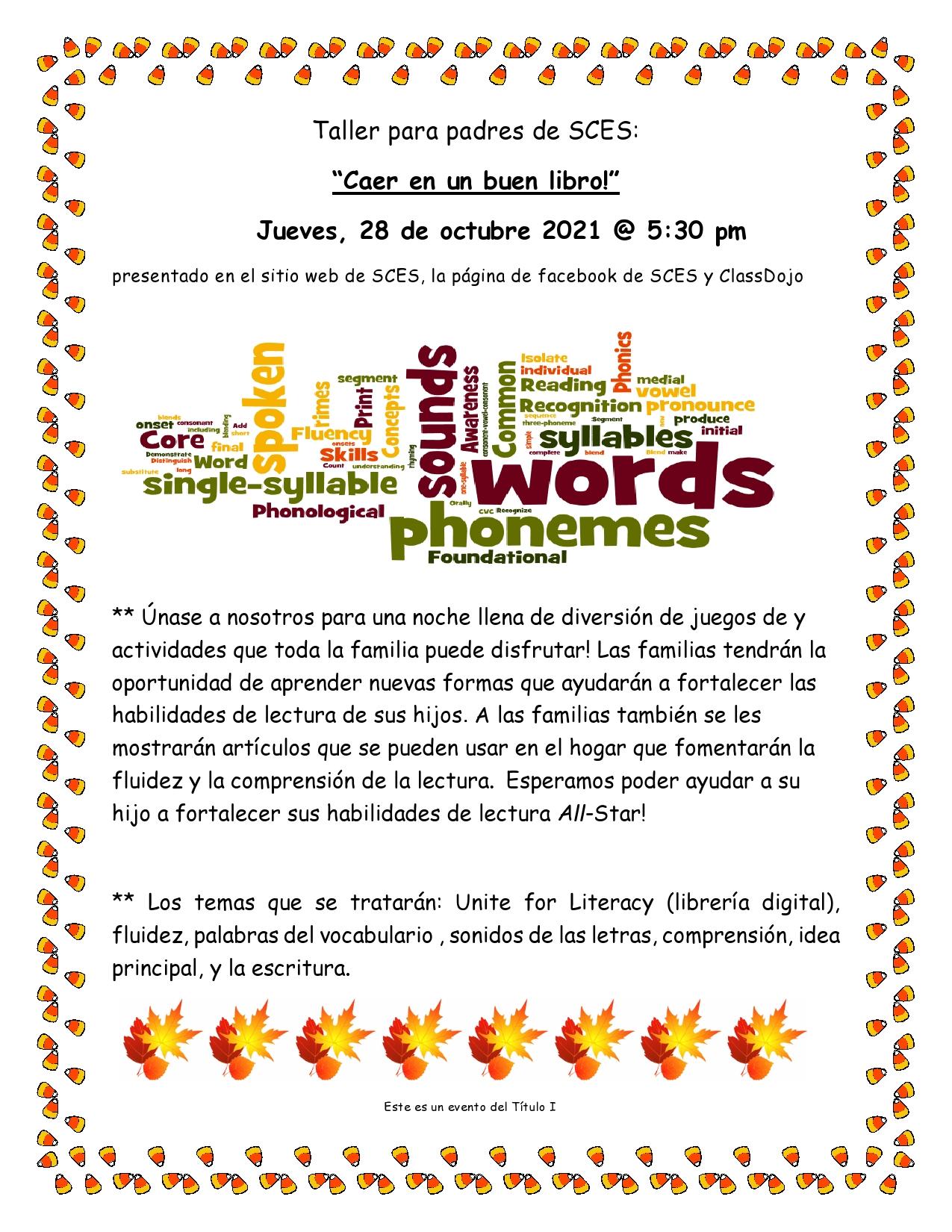 Parent Workshop - Spanish