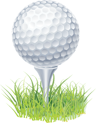 golf ball sitting on tee surrounded by grass
