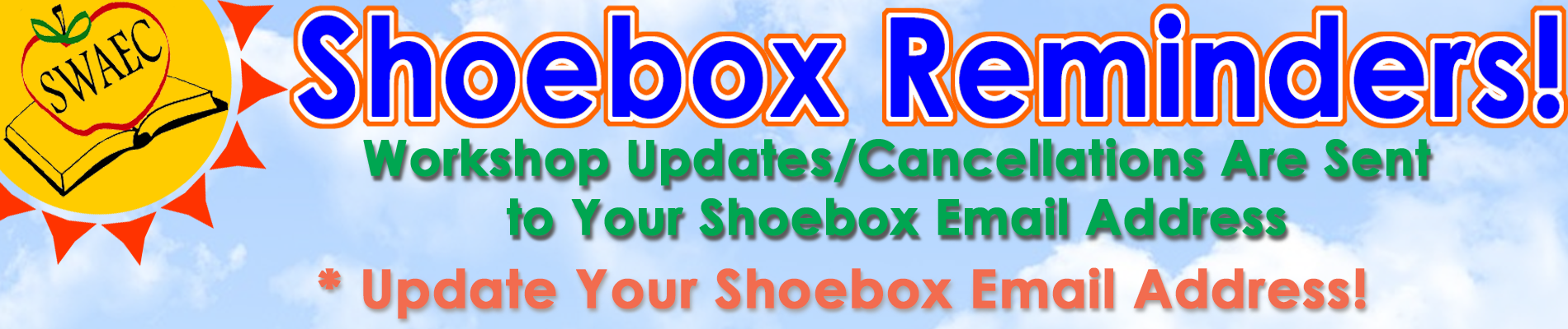 Update your shoebox email address
