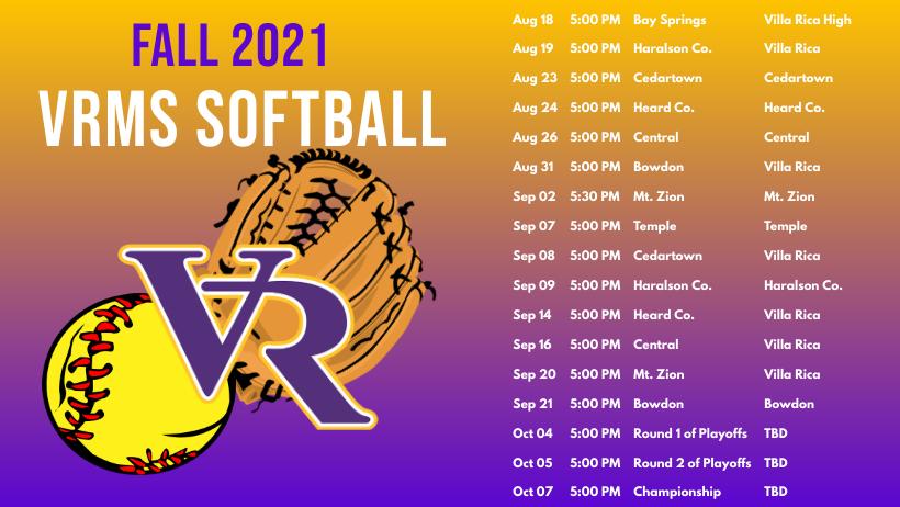 Softball schedule photo