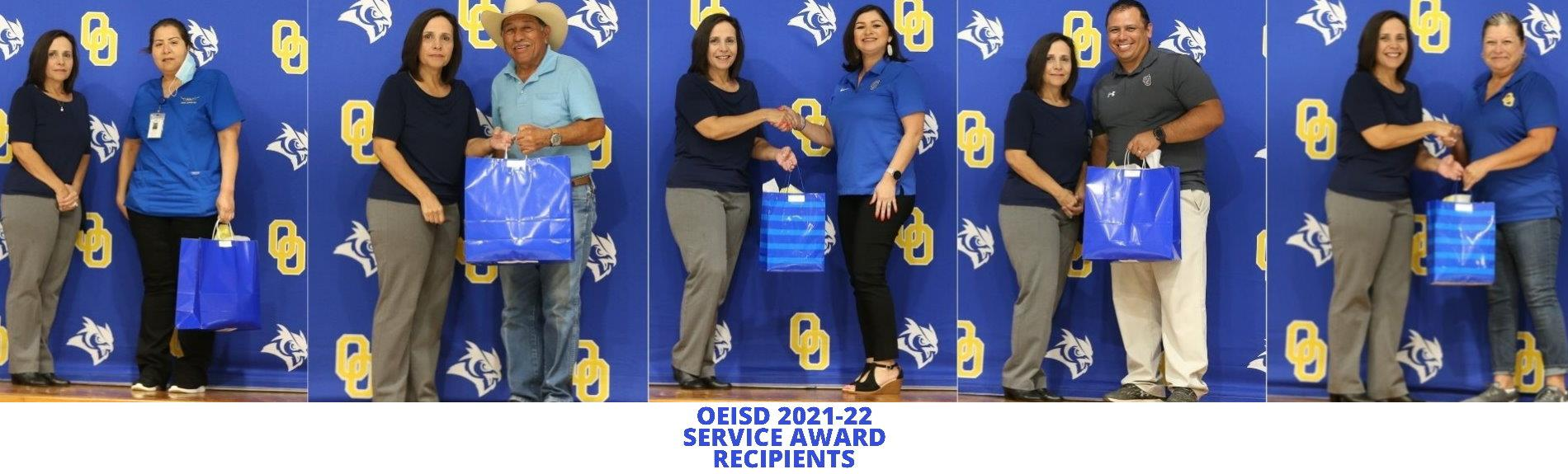 OEISD 2021-22 Service Award Recipients
