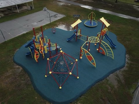 New Playground Equipment at SDM Picture from Drone