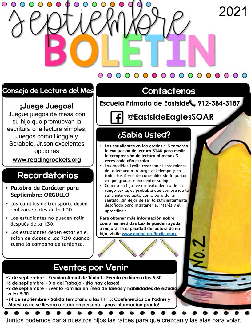 Spanish September FY22 Newsletter