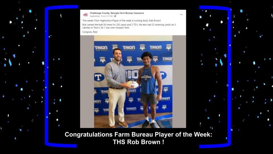 ROB BROWN PLAYER OF THE WEEK