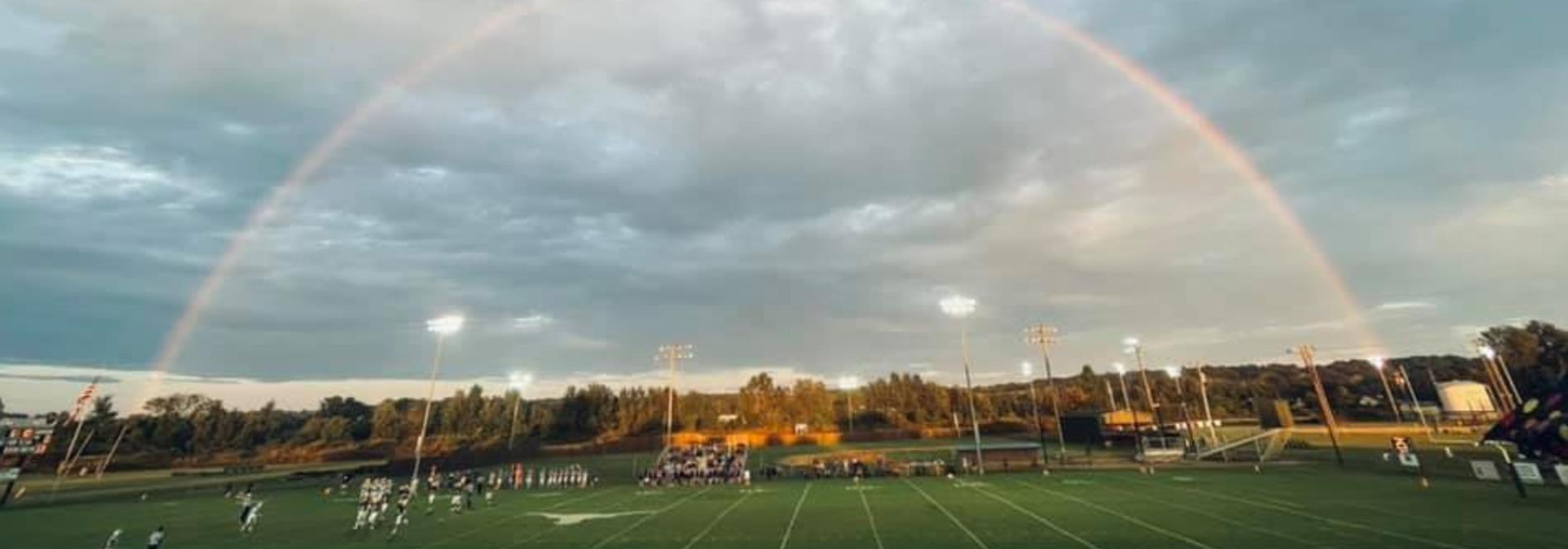 rainbow at football