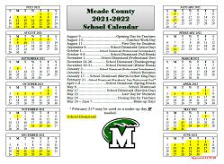 Meade County School 2021-2022 Calendar