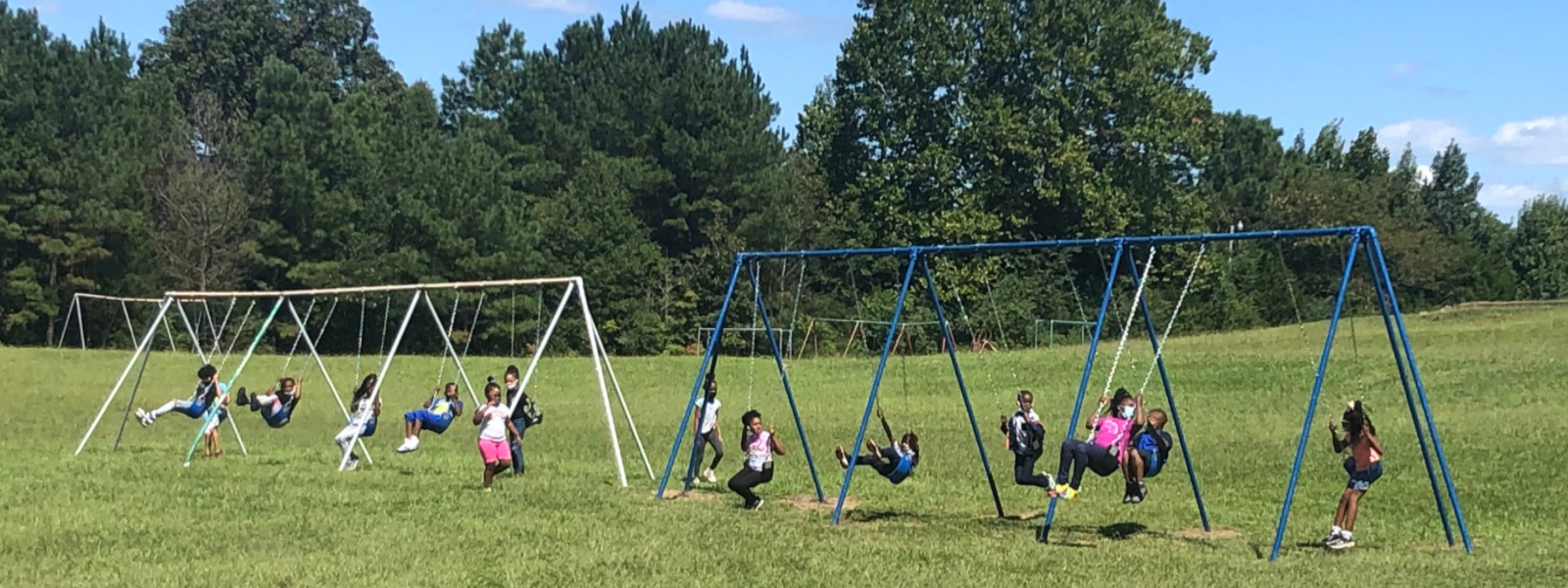 Swingsets repaired at Ashland Elementary